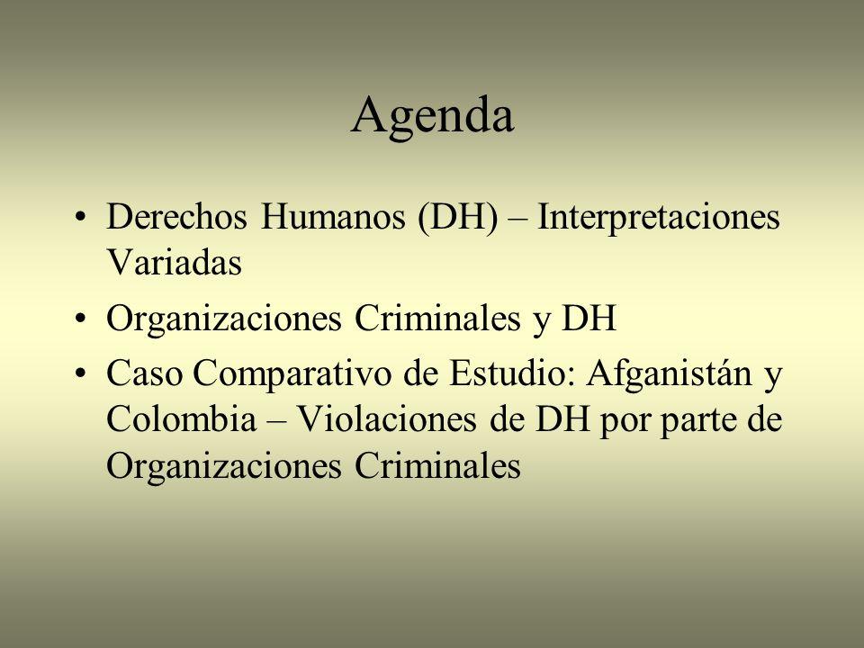 Agenda Derechos Humanos (DH) – Interpretaciones Variadas