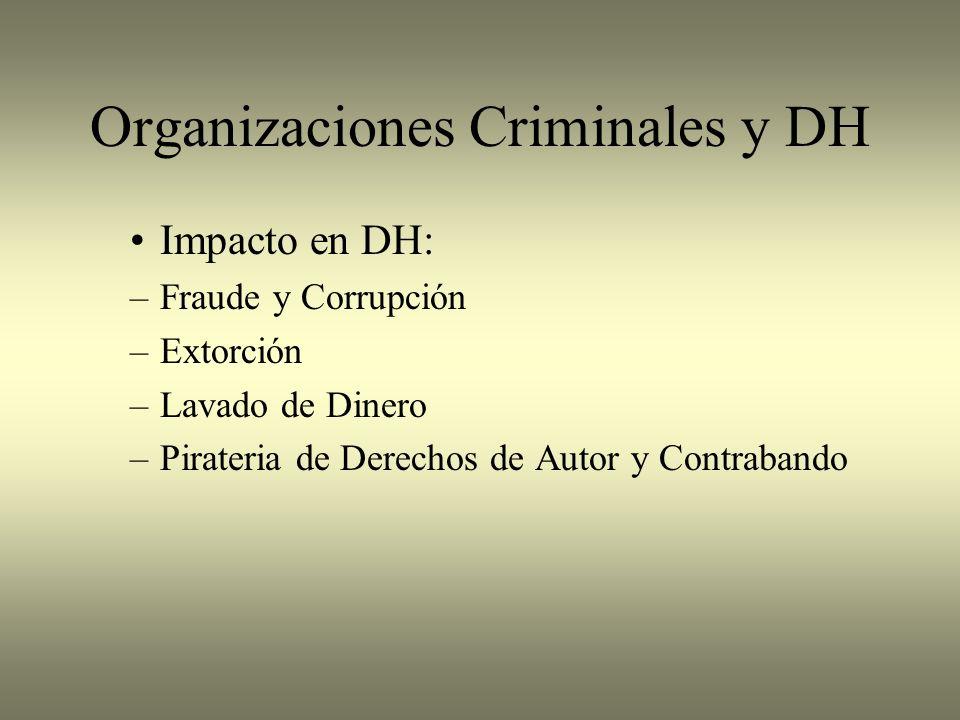 Organizaciones Criminales y DH