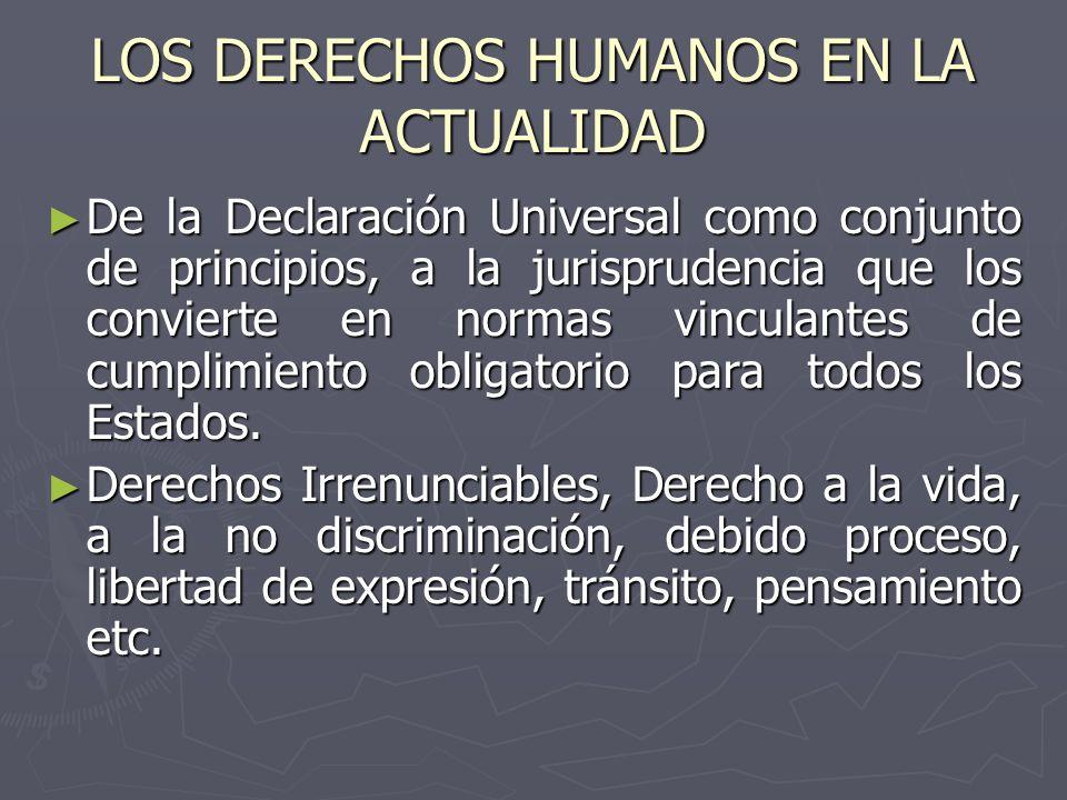 LOS DERECHOS HUMANOS EN LA ACTUALIDAD