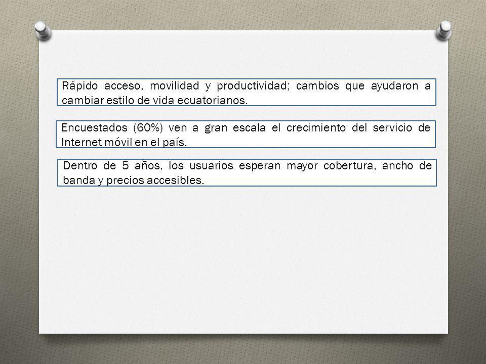 Rápido acceso, movilidad y productividad; cambios que ayudaron a cambiar estilo de vida ecuatorianos.