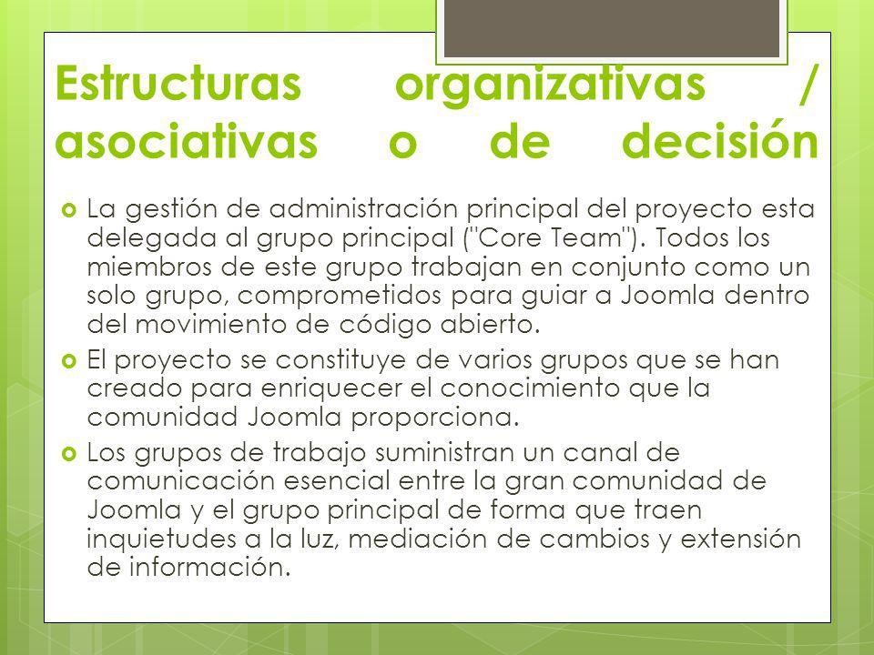 Estructuras organizativas / asociativas o de decisión