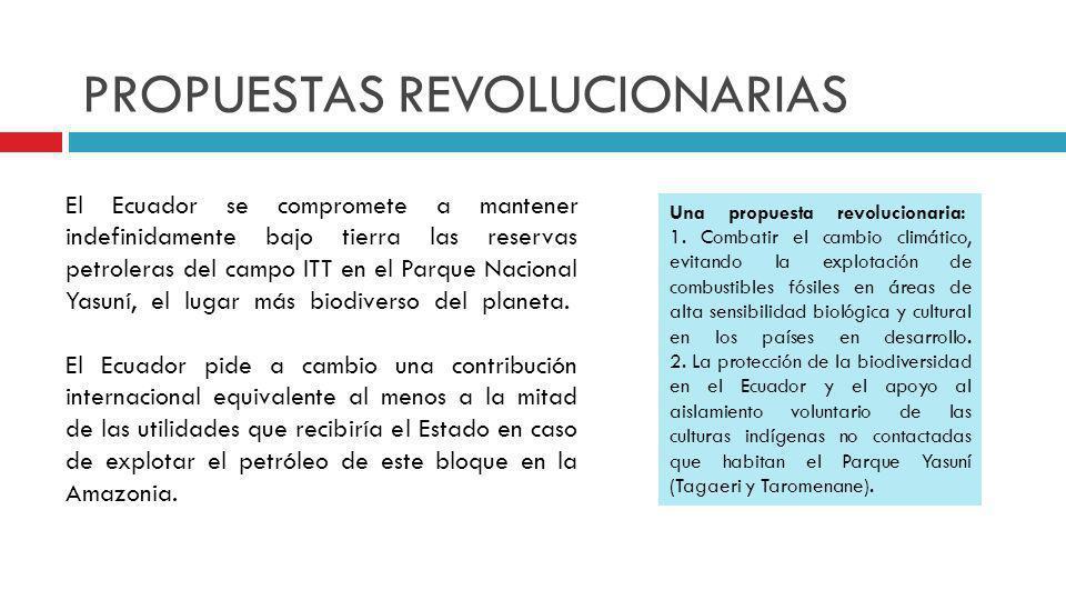 PROPUESTAS REVOLUCIONARIAS