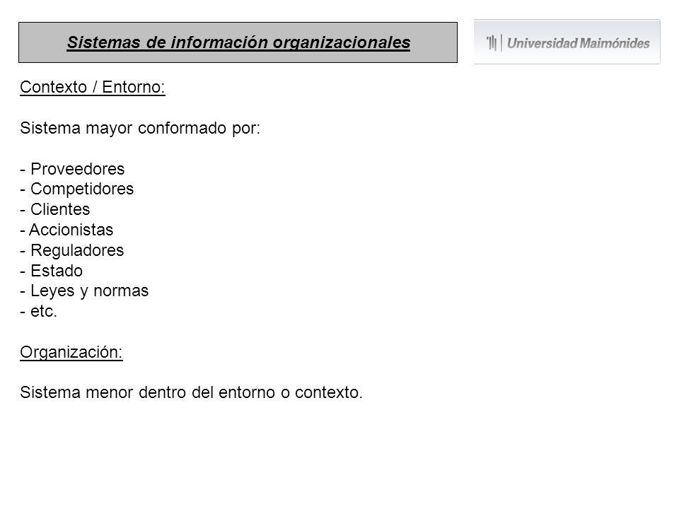 Sistemas de información organizacionales