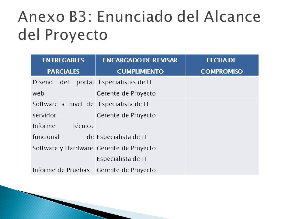 Anexo B3: Enunciado del Alcance del Proyecto