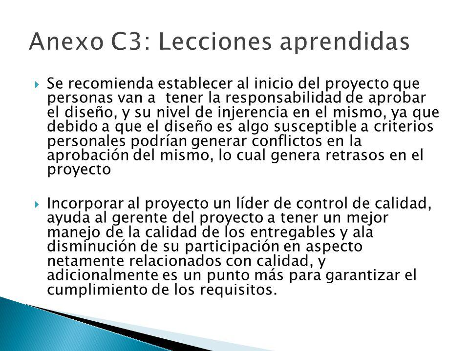 Anexo C3: Lecciones aprendidas