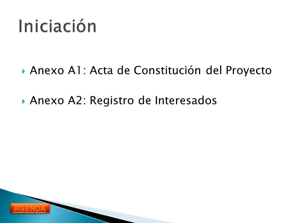 Iniciación Anexo A1: Acta de Constitución del Proyecto