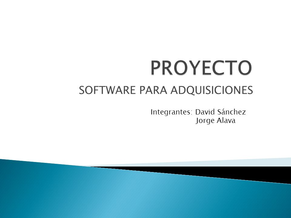 SOFTWARE PARA ADQUISICIONES