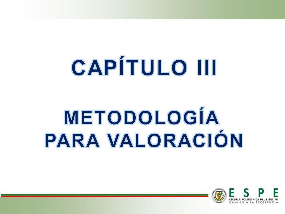 CAPÍTULO III METODOLOGÍA PARA VALORACIÓN