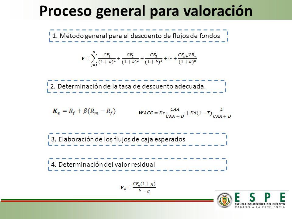 Proceso general para valoración