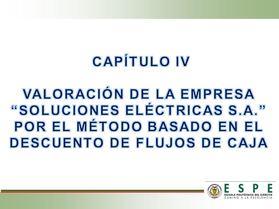 VALORACIÓN DE LA EMPRESA SOLUCIONES ELÉCTRICAS S.A.