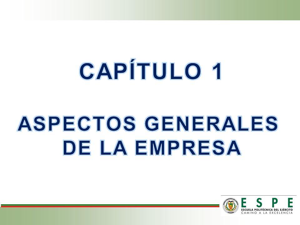 CAPÍTULO 1 ASPECTOS GENERALES DE LA EMPRESA
