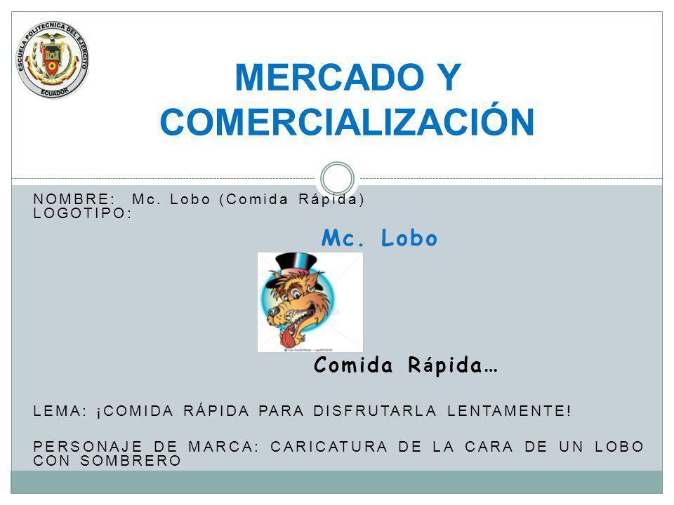 MERCADO Y COMERCIALIZACIÓN