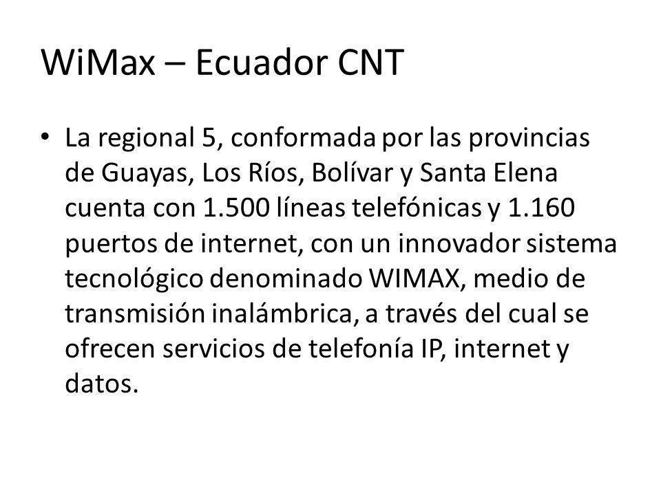 WiMax – Ecuador CNT