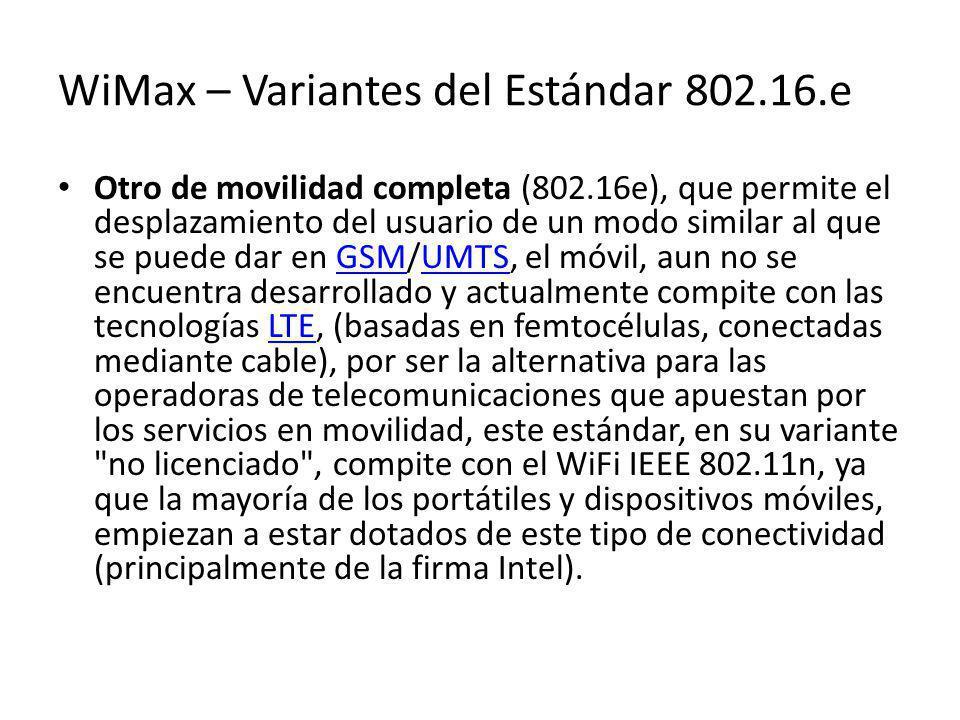WiMax – Variantes del Estándar 802.16.e