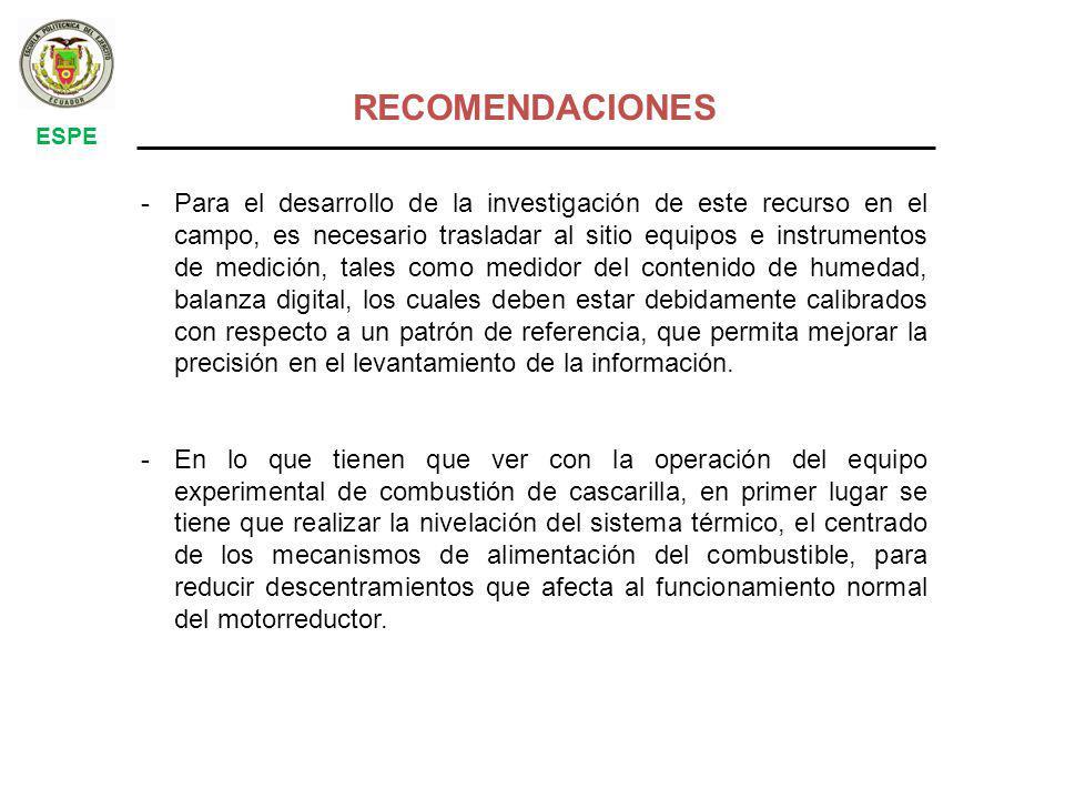 RECOMENDACIONES ESPE.