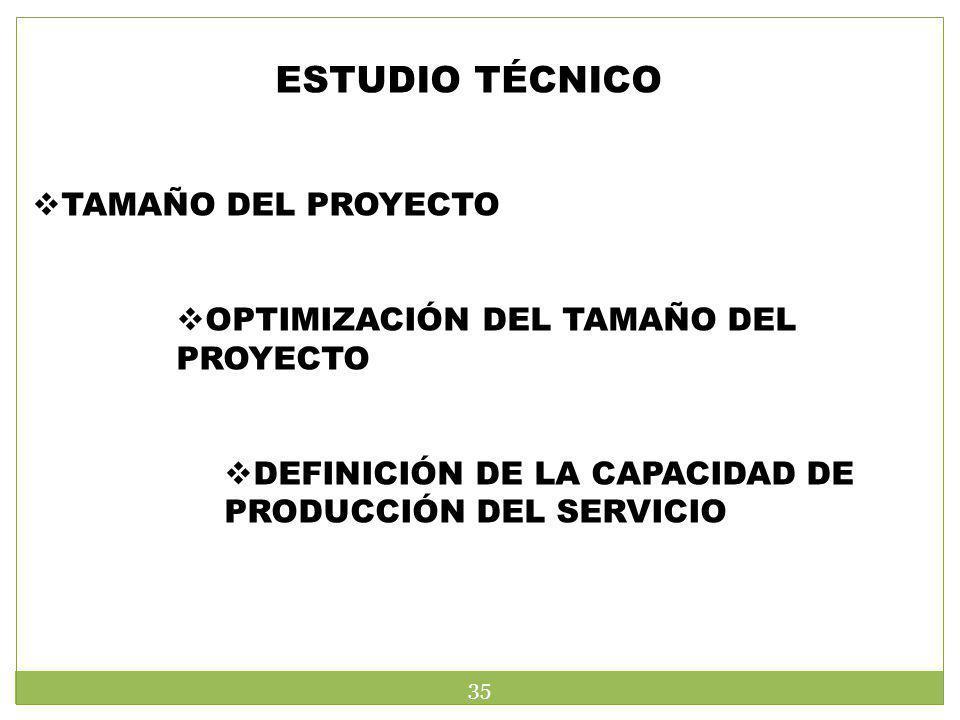 ESTUDIO TÉCNICO TAMAÑO DEL PROYECTO