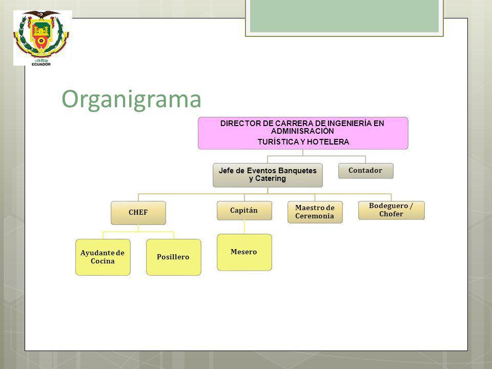 Organigrama DIRECTOR DE CARRERA DE INGENIERÍA EN ADMINISRACIÓN