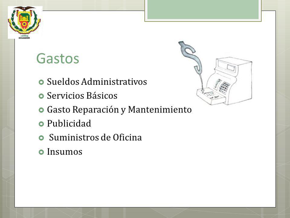 Gastos Sueldos Administrativos Servicios Básicos