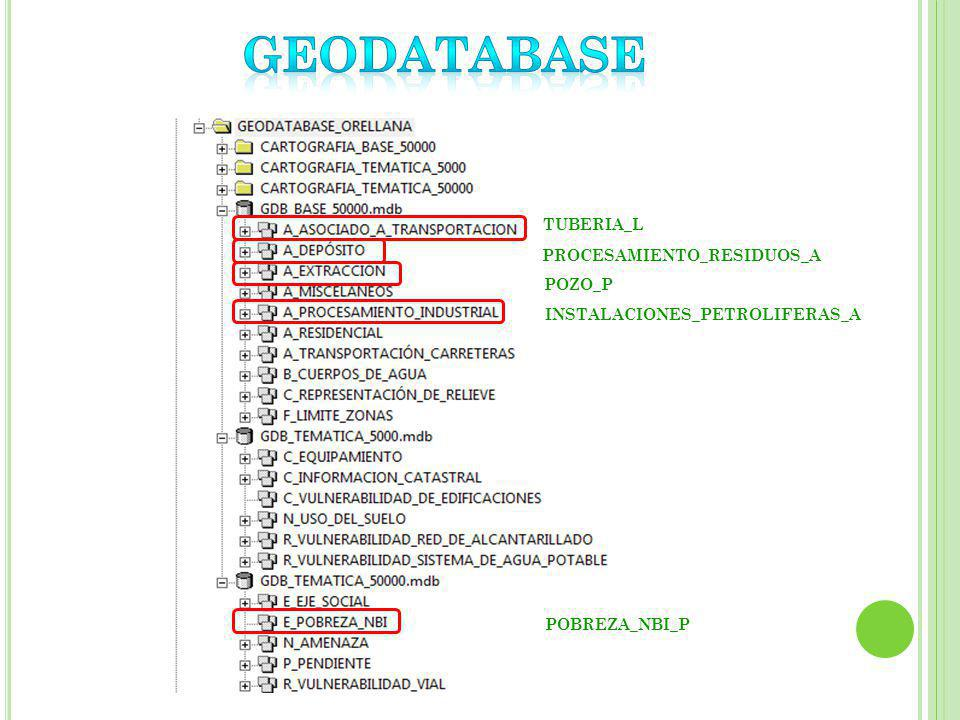 GEODATABASE GEODATABASE TUBERIA_L PROCESAMIENTO_RESIDUOS_A POZO_P