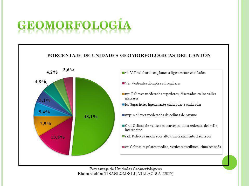 geoMORFOLOGÍA Porcentaje de Unidades Geomorfológicas