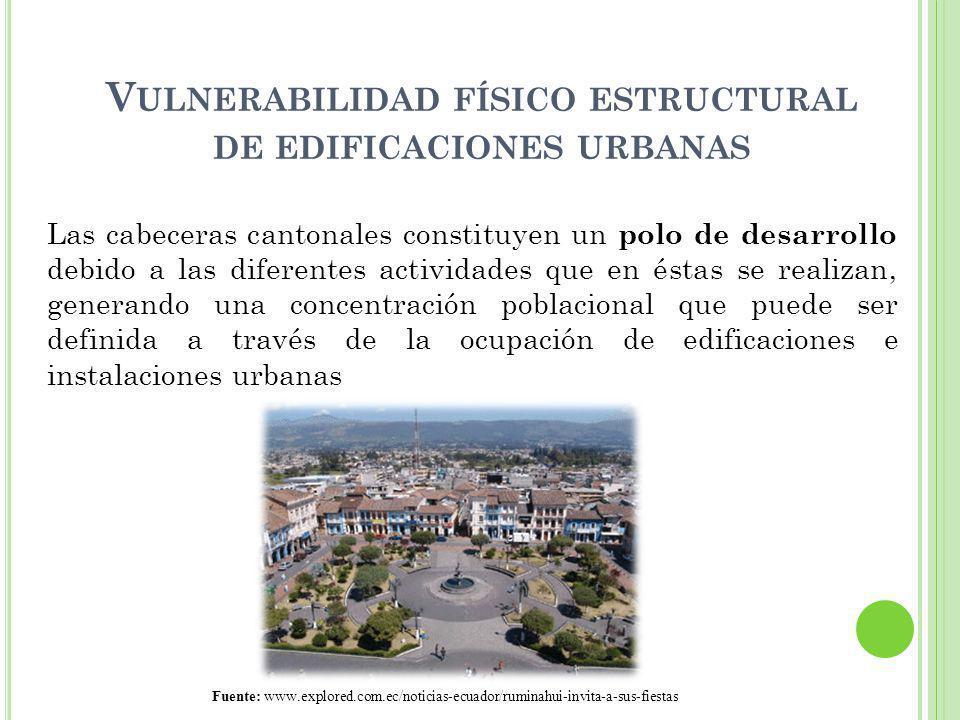 Vulnerabilidad físico estructural de edificaciones urbanas