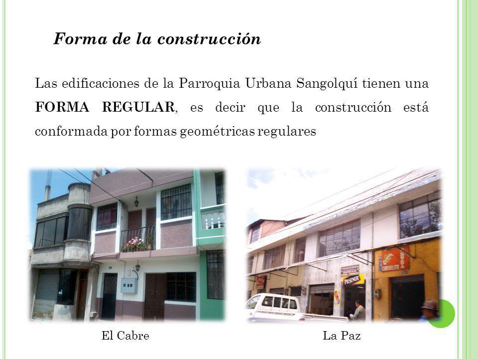 Forma de la construcción