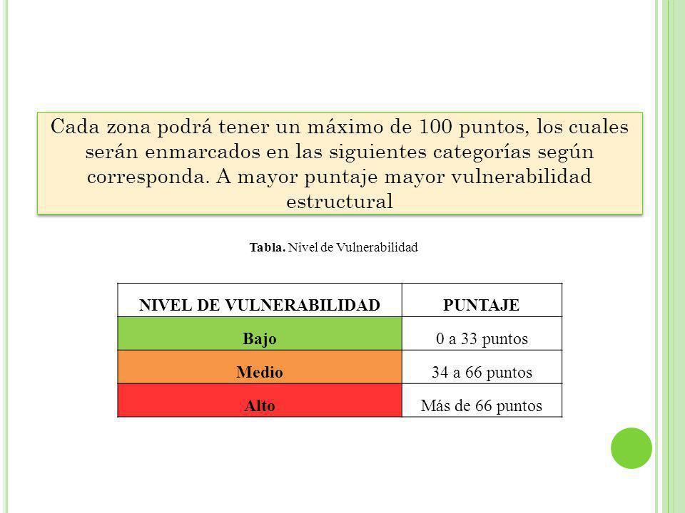 NIVEL DE VULNERABILIDAD