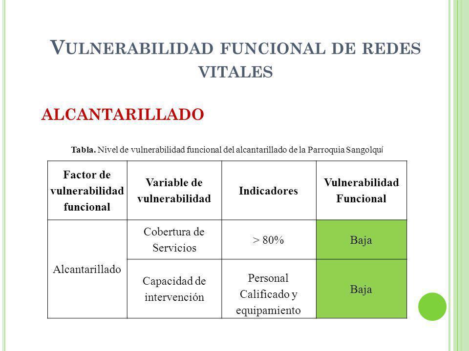 Vulnerabilidad funcional de redes vitales