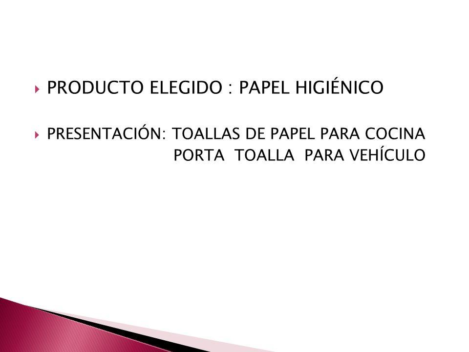 PRODUCTO ELEGIDO : PAPEL HIGIÉNICO