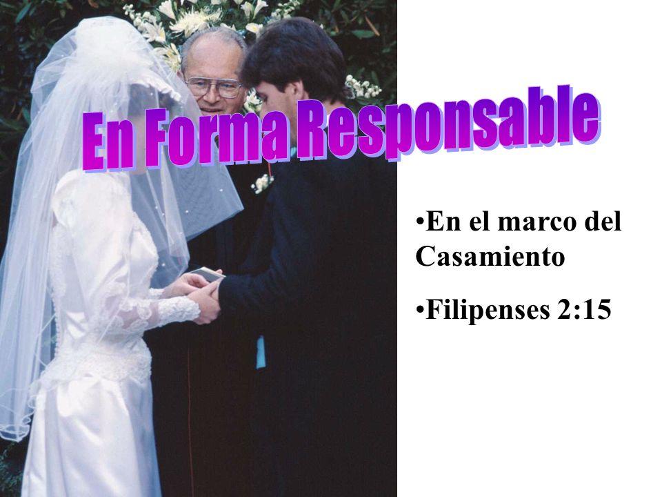 En Forma Responsable En el marco del Casamiento Filipenses 2:15