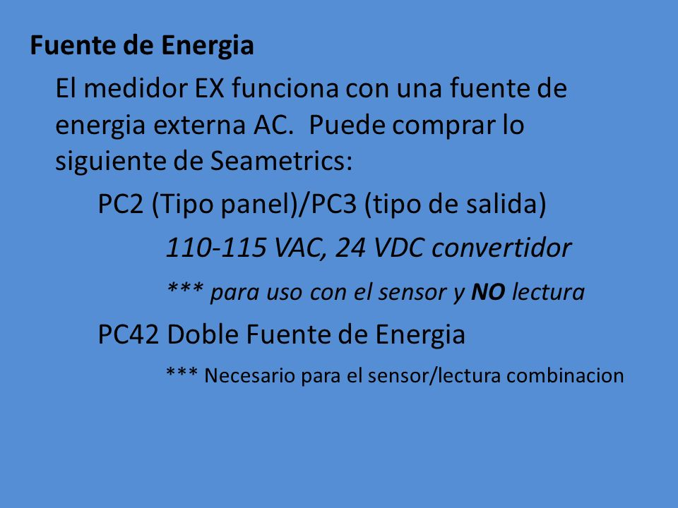 PC2 (Tipo panel)/PC3 (tipo de salida) 110-115 VAC, 24 VDC convertidor