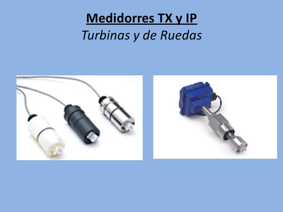 Medidorres TX y IP Turbinas y de Ruedas