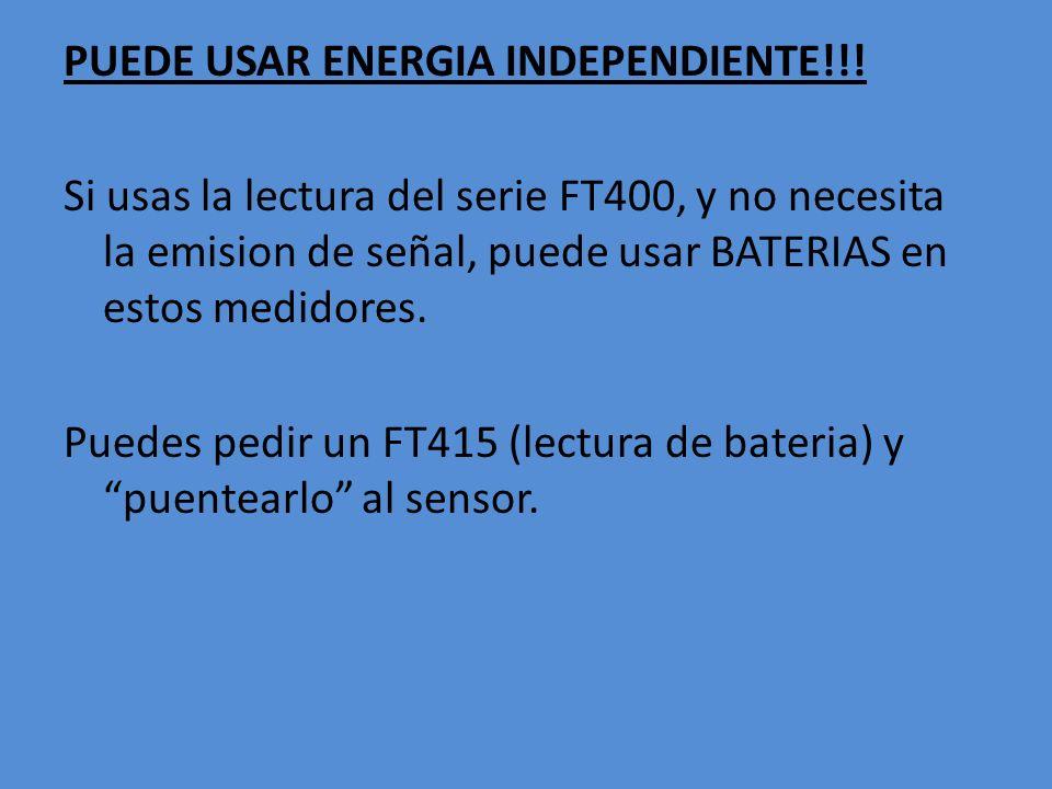PUEDE USAR ENERGIA INDEPENDIENTE