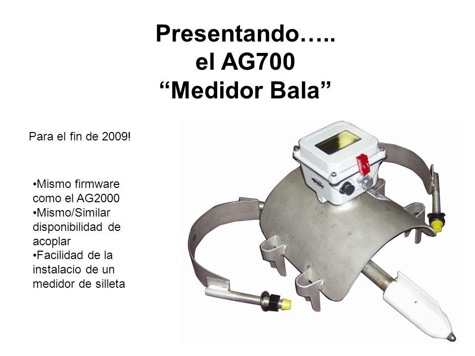 Presentando….. el AG700 Medidor Bala
