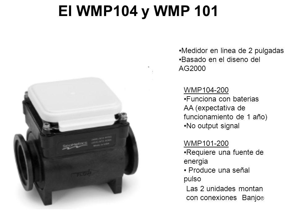 El WMP104 y WMP 101 Medidor en linea de 2 pulgadas