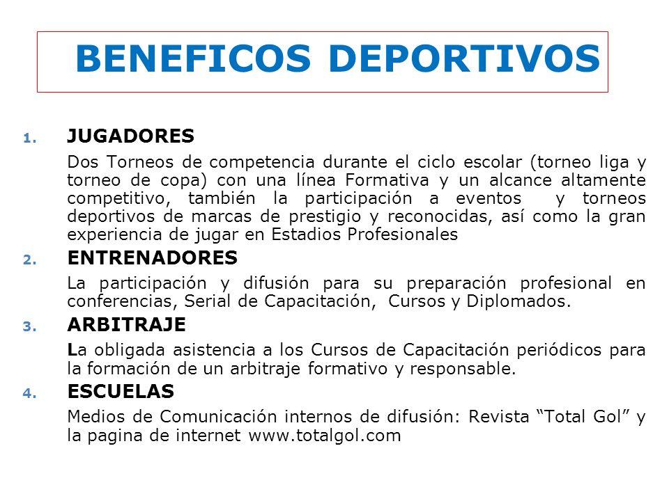 BENEFICOS DEPORTIVOS JUGADORES
