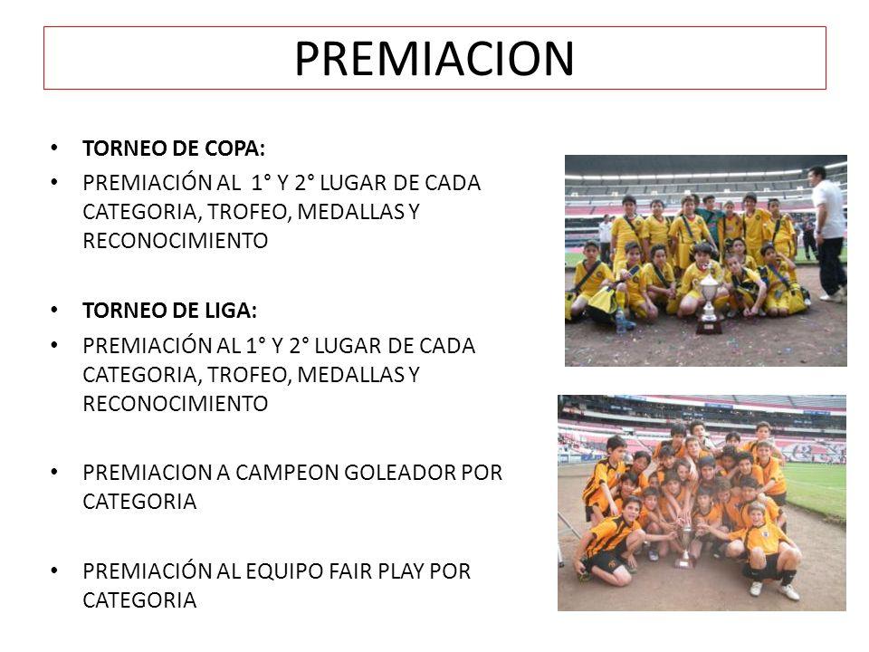 PREMIACION TORNEO DE COPA: