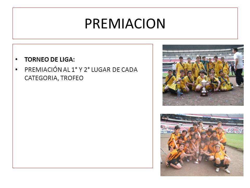 PREMIACION TORNEO DE LIGA: