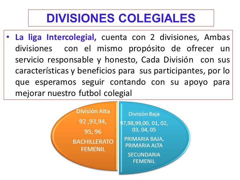 DIVISIONES COLEGIALES