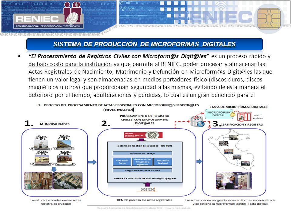 SISTEMA DE PRODUCCIÓN DE MICROFORMAS DIGITALES