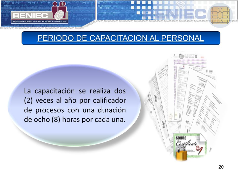 PERIODO DE CAPACITACION AL PERSONAL