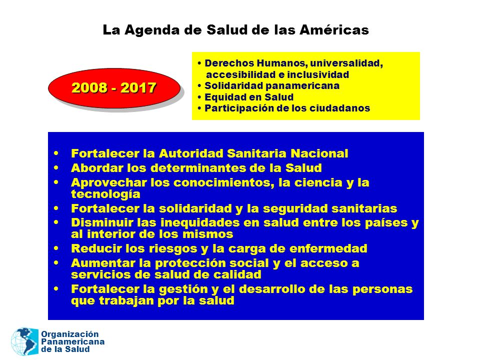 La Agenda de Salud de las Américas