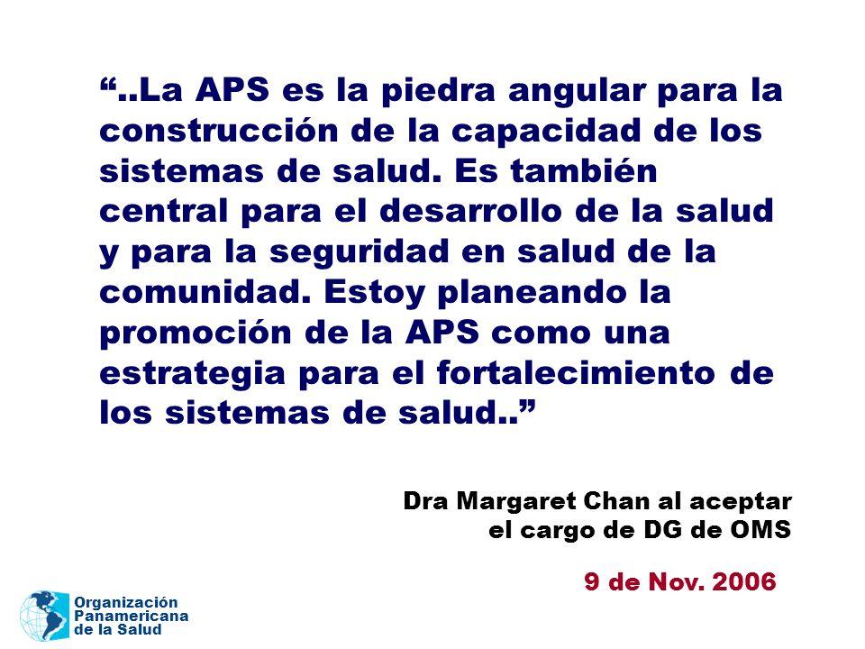 Dra Margaret Chan al aceptar el cargo de DG de OMS