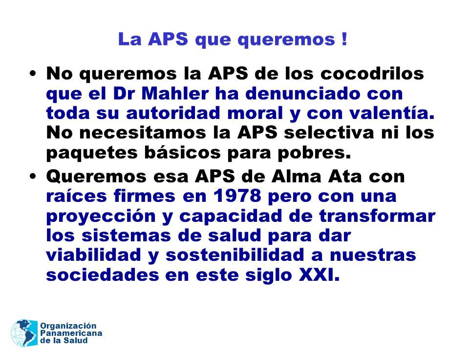 La APS que queremos !