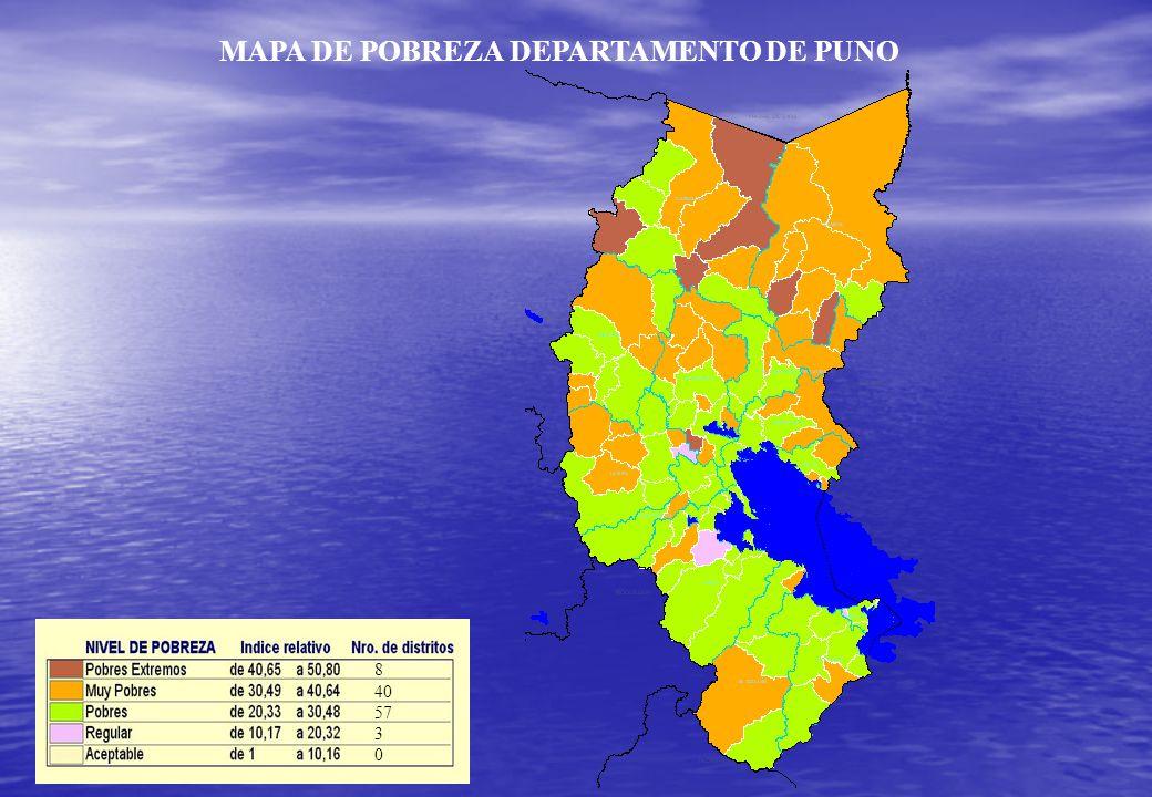 MAPA DE POBREZA DEPARTAMENTO DE PUNO