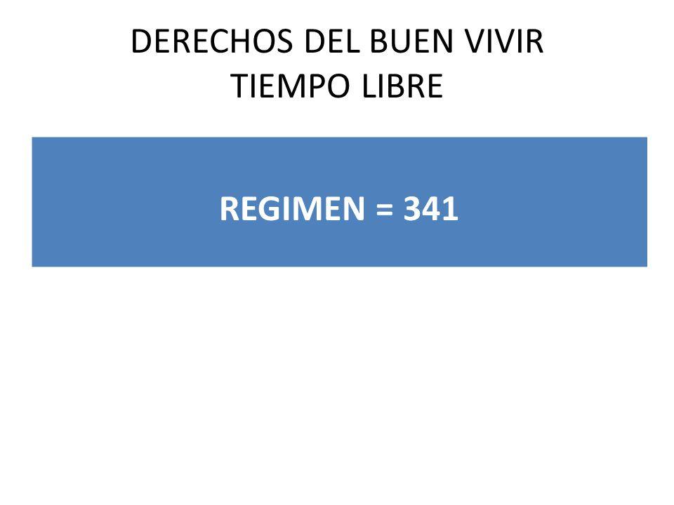 DERECHOS DEL BUEN VIVIR TIEMPO LIBRE