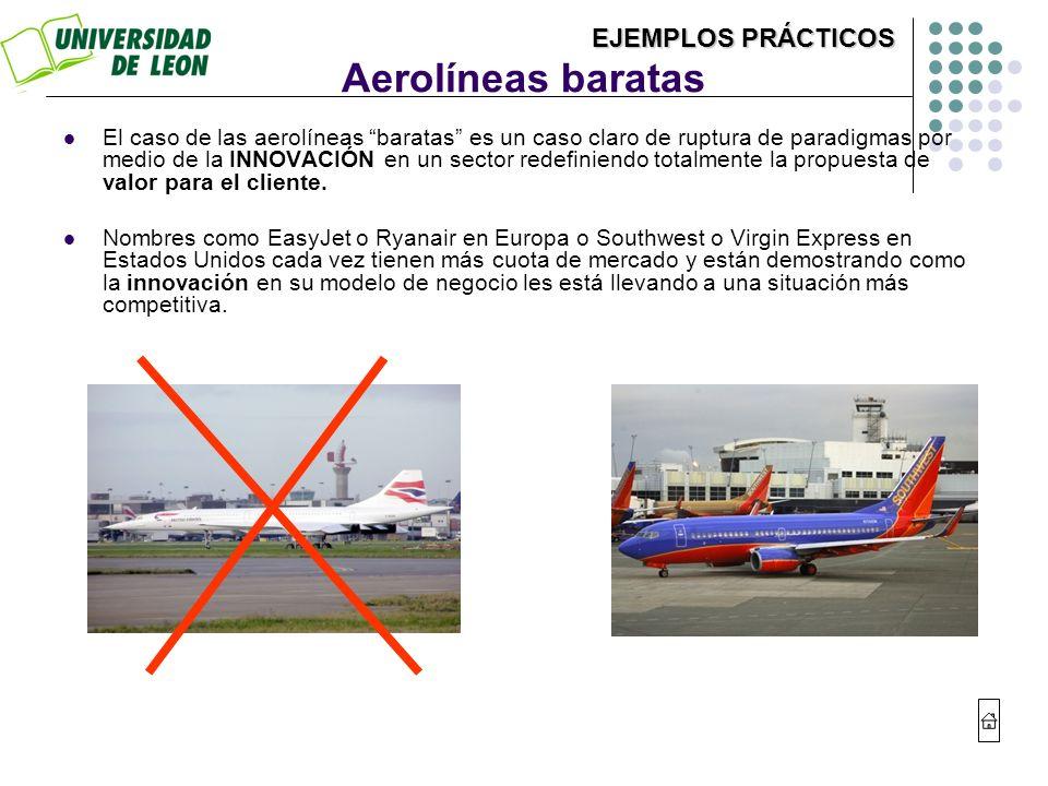 Aerolíneas baratas EJEMPLOS PRÁCTICOS
