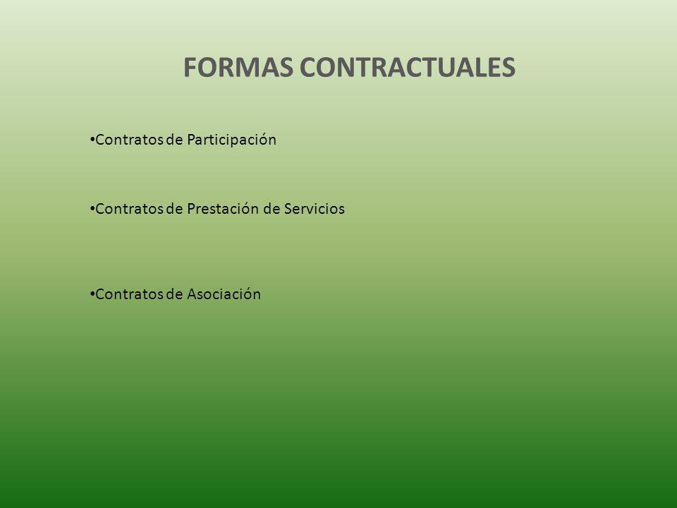 FORMAS CONTRACTUALES Contratos de Participación