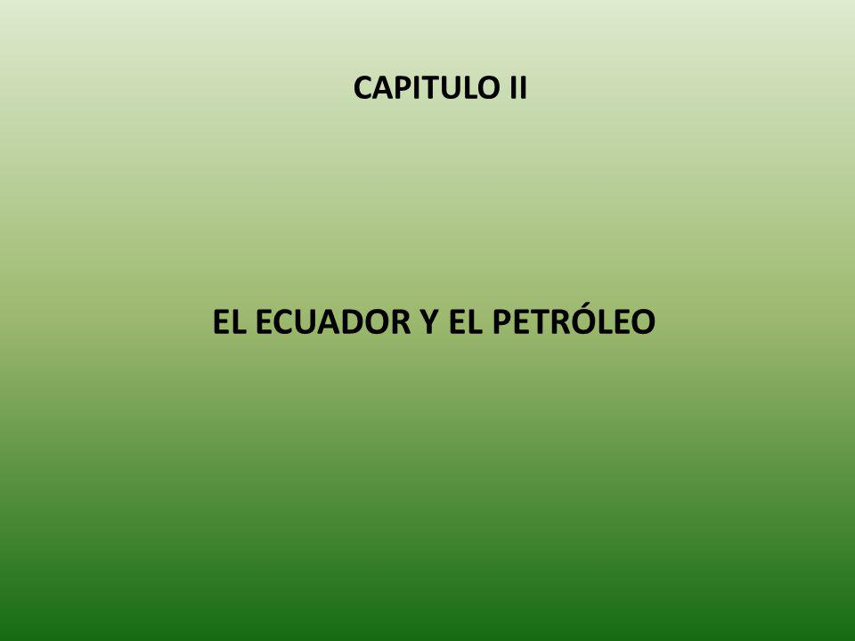 EL ECUADOR Y EL PETRÓLEO