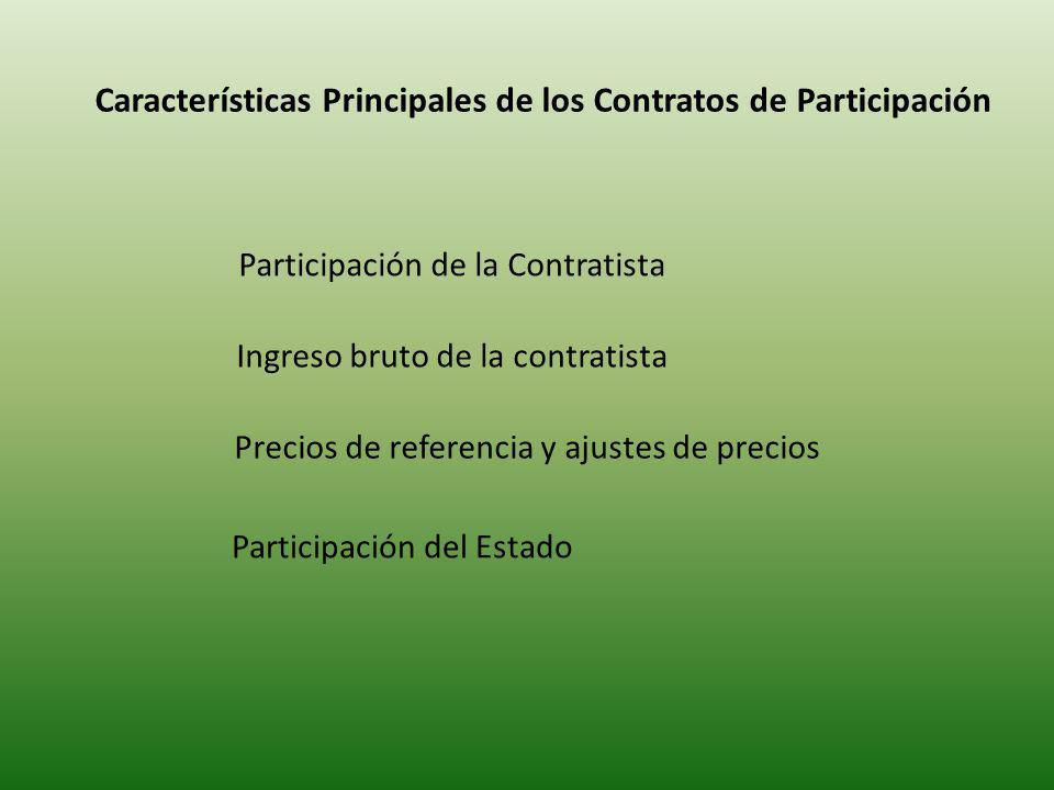 Características Principales de los Contratos de Participación